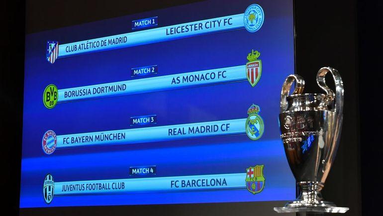 Сегодня. Ньон. Результаты жеребьевки 1/4 финала Лиги чемпионов. Фото AFP