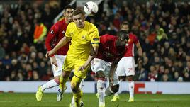 """Вчера. Манчестер. """"Манчестер Юнайтед"""" - """"Ростов"""" - 1:0. В атаке Александр БУХАРОВ."""