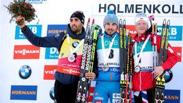 Мартен ФУРКАД, Антон ШИПУЛИН и финишировавший третьим Йоханнес БЕ.