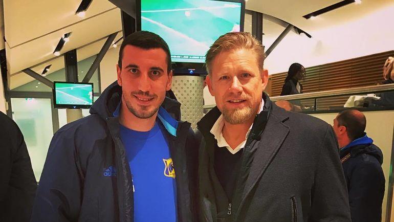 Сослан ДЖАНАЕВ (слева) и Петер ШМАЙХЕЛЬ. Фото instagram.com/sosik8787