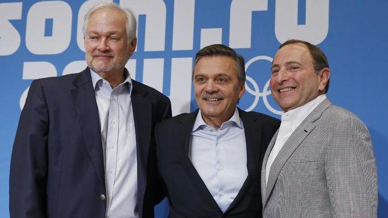 Рене ФАЗЕЛЬ (в центре), Гэри БЭТТМЕН (справа) и Дональд ФЕР в олимпийском Сочи-2014: встретятся ли они в Пхенчхане-2018? Фото Reuters
