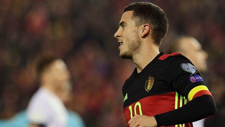 Капитан сборной Бельгии Эден АЗАР. Фото AFP