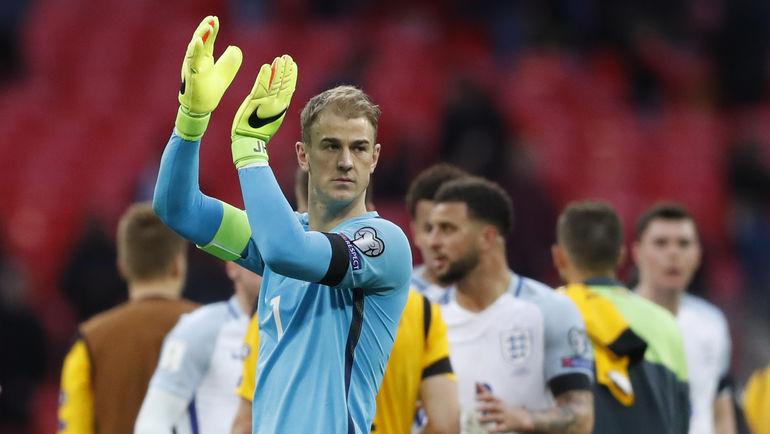Вратарь сборной Англии Джо ХАРТ. Фото Reuters