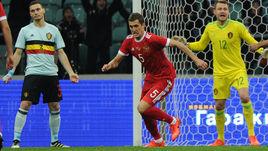 Вчера. Сочи. Россия - Бельгия - 3:3. 3-я минута. Только что Виктор ВАСИН (№5) открыл счет.
