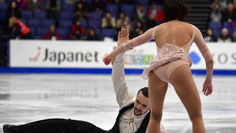Федор КЛИМОВ и Ксения СТОБОВА провалили короткую программу. Фото AFP