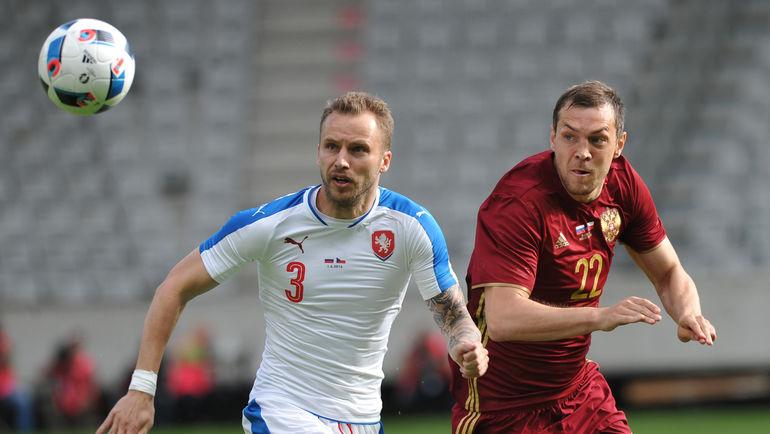 Михал КАДЛЕЦ (слева) и Артем ДЗЮБА. Фото Александр ФЕДОРОВ, «СЭ»
