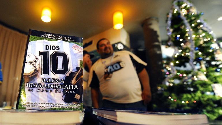 В Аргентине действует церковь Диего Марадоны. Фото AFP