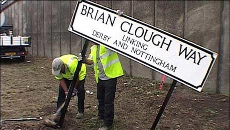 В честь Брайана КЛАФА названо целое шоссе. Фото BBC
