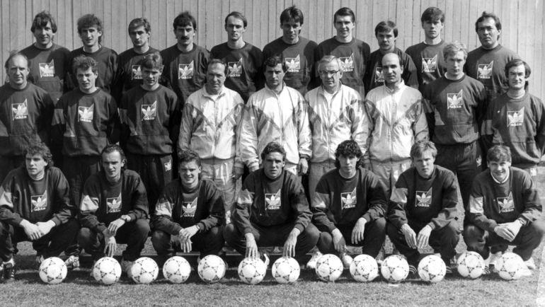 1992 год. Зураб ОРДЖОНИКИДЗЕ (третий справа во втором ряду) со сборной СНГ. Фото Федор АЛЕКСЕЕВ, «СЭ»