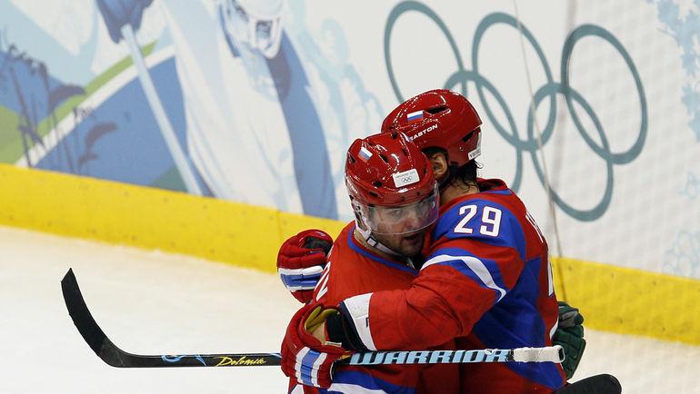 2010 год. Ванкувер. Александр РАДУЛОВ (слева) и Сергей ФЕДОРОВ. Фото Александр ВИЛЬФ, «СЭ»