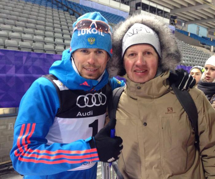Сергей УСТЮГОВ и первый тренер Иван БРАГИН. Фото Федерация лыжных гонок Югры