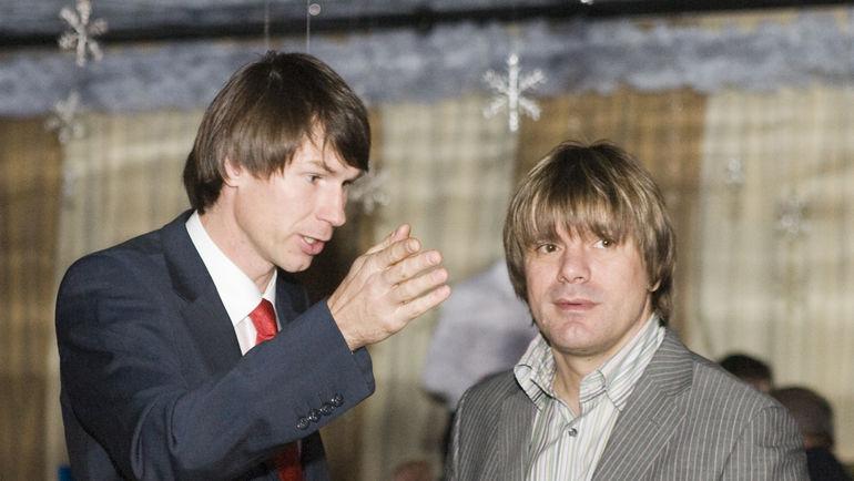 Николай ТРУБАЧ (справа) и Егор ТИТОВ. Фото Александр ФЕДОРОВ, «СЭ»
