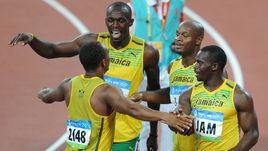 Чемпионы Олимпийских игр-2008 в эстафете 4х100 метров Майкл ФРЭЙТЕР, Усэйн БОЛТ, Асафа ПАУЭЛЛ и Неста КАРТЕР, позже лишенные золота из-за положительной допинг-пробы последнего.