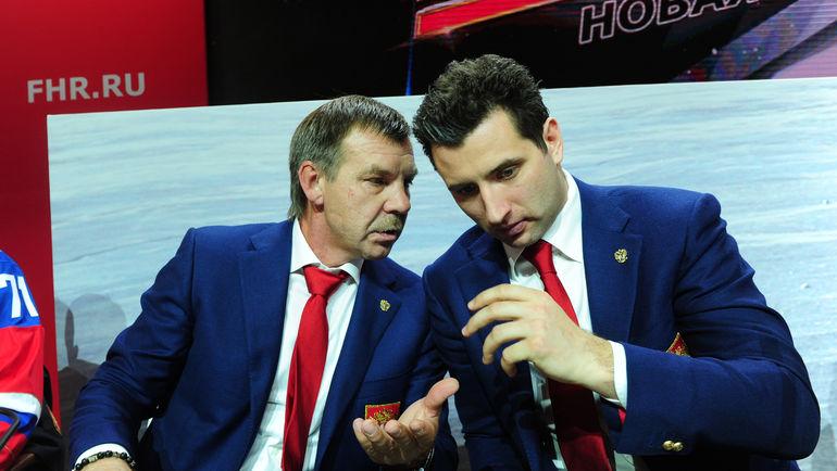 Роман РОТЕНБЕРГ (справа) и Олег ЗНАРОК. Фото Федор УСПЕНСКИЙ, «СЭ»