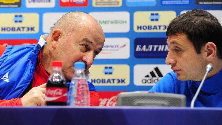 Станислав ЧЕРЧЕСОВ и Алан ДЗАГОЕВ. Фото Александр ФЕДОРОВ, «СЭ»