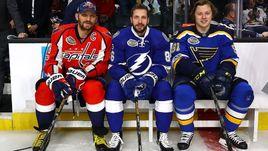 Три ведущих форварда России в сильнейшей лиге мира - Александр ОВЕЧКИН, Никита КУЧЕРОВ и Владимир ТАРАСЕНКО.