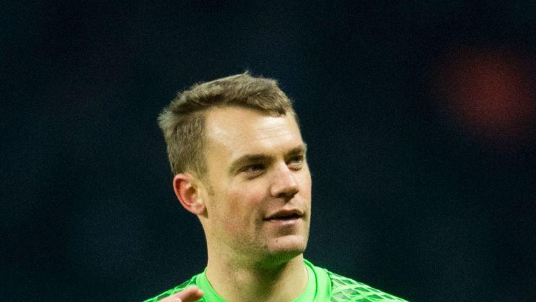 "Вратарь ""Баварии"" Мануэль НОЙЕР. Фото AFP"