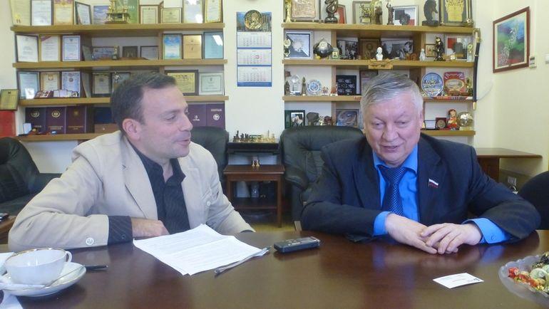 Игорь РАБИНЕР и Анатолий КАРПОВ.