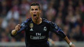 """Вчера. Мюнхен. """"Бавария"""" - """"Реал"""" - 1:2. КРИШТИАНУ РОНАЛДУ празднует один из двух своих голов."""