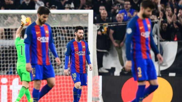 """Вторник. Турин. """"Ювентус"""" - """"Барселона"""" - 3:0. Лионель МЕССИ (в центре) со своими партнерами не смогли ни разу поразить ворота соперника. Фото AFP"""