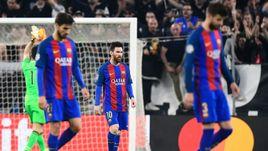 """Вторник. Турин. """"Ювентус"""" - """"Барселона"""" - 3:0. Лионель МЕССИ (в центре) со своими партнерами не смогли ни разу поразить ворота соперника."""