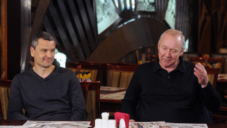 Олег РОМАНЦЕВ (справа) и Юрий НИКИФОРОВ. Фото Александр ФЕДОРОВ , «СЭ»