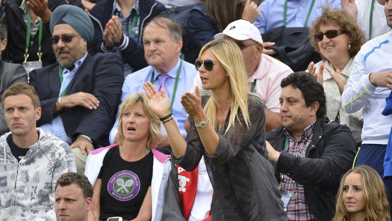 2013 год. Мария ШАРАПОВА поддерживает Григора Димитрова. Фото Reuters