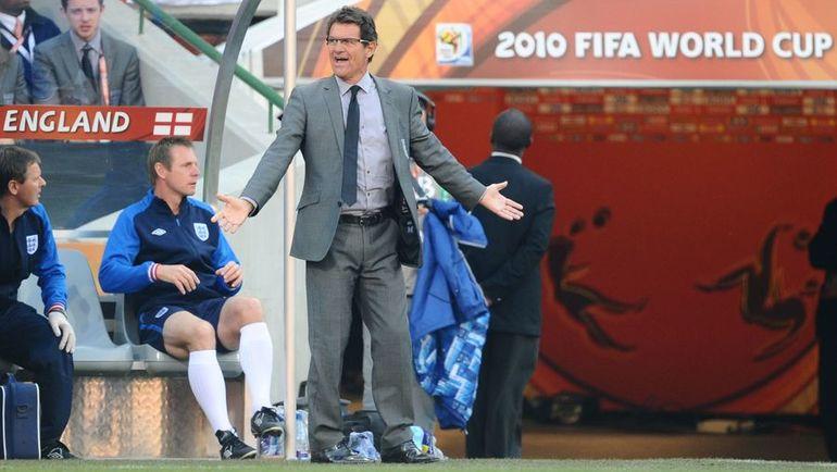 27 июня 2010 года. Блумфонтейн. Германия - Англия - 4:1. Грубые ошибки арбитра, возможно, лишили Фабио КАПЕЛЛО выхода в четвертьфинал чемпионата мира. Фото Reuters