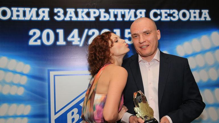 Андрей РАЗИН с женой Татьяной. Фото ВХЛ