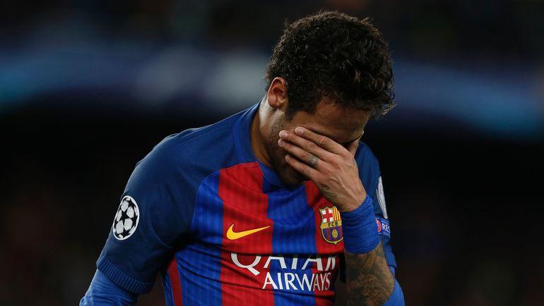 """Один из лидеров """"Барселоны"""" НЕЙМАР не сумеет помочь своей команде в главном матче испанского сезона. Фото AFP"""