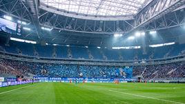 """Сегодня. Санкт-Петербург. """"Зенит"""" - """"Урал"""" - 2:0. Вид стадиона """"Санкт-Петербург""""."""
