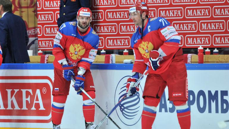 """Илья КОВАЛЬЧУК (справа) и Александр РАДУЛОВ. Фото Алексей ИВАНОВ, """"СЭ"""""""