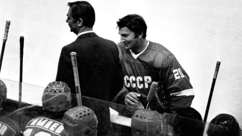 Владислав ТРЕТЬЯК (справа) и Виктор ТИХОНОВ. Фото Анатолий БОЧИНИН