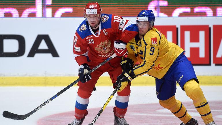 Сергей МОЗЯКИН (слева). Фото Юрий КУЗЬМИН, photo.khl.ru