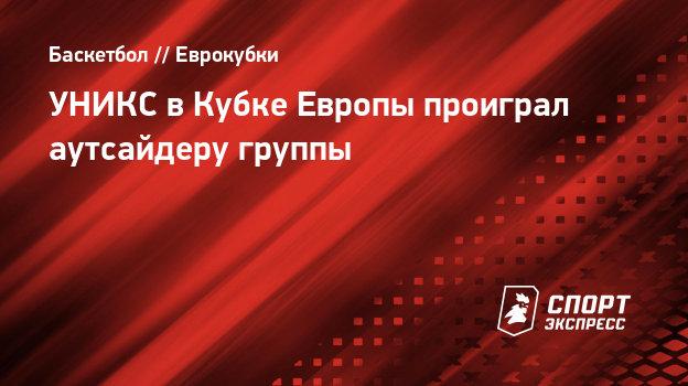 УНИКС вКубке Европы проиграл аутсайдеру группы