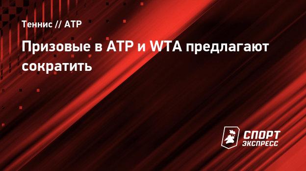 Призовые вATP иWTA предлагают сократить