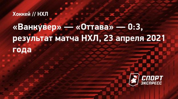 Зайцев сделал голевую передачу впобедном матче «Оттавы» против «Ванкувера»