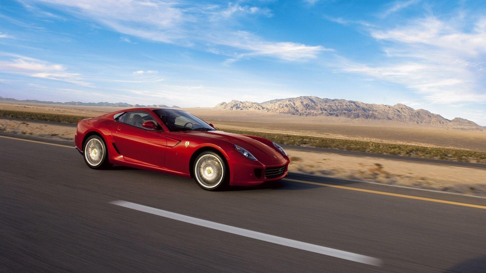 Ferrari 599 красная асфальт смотреть