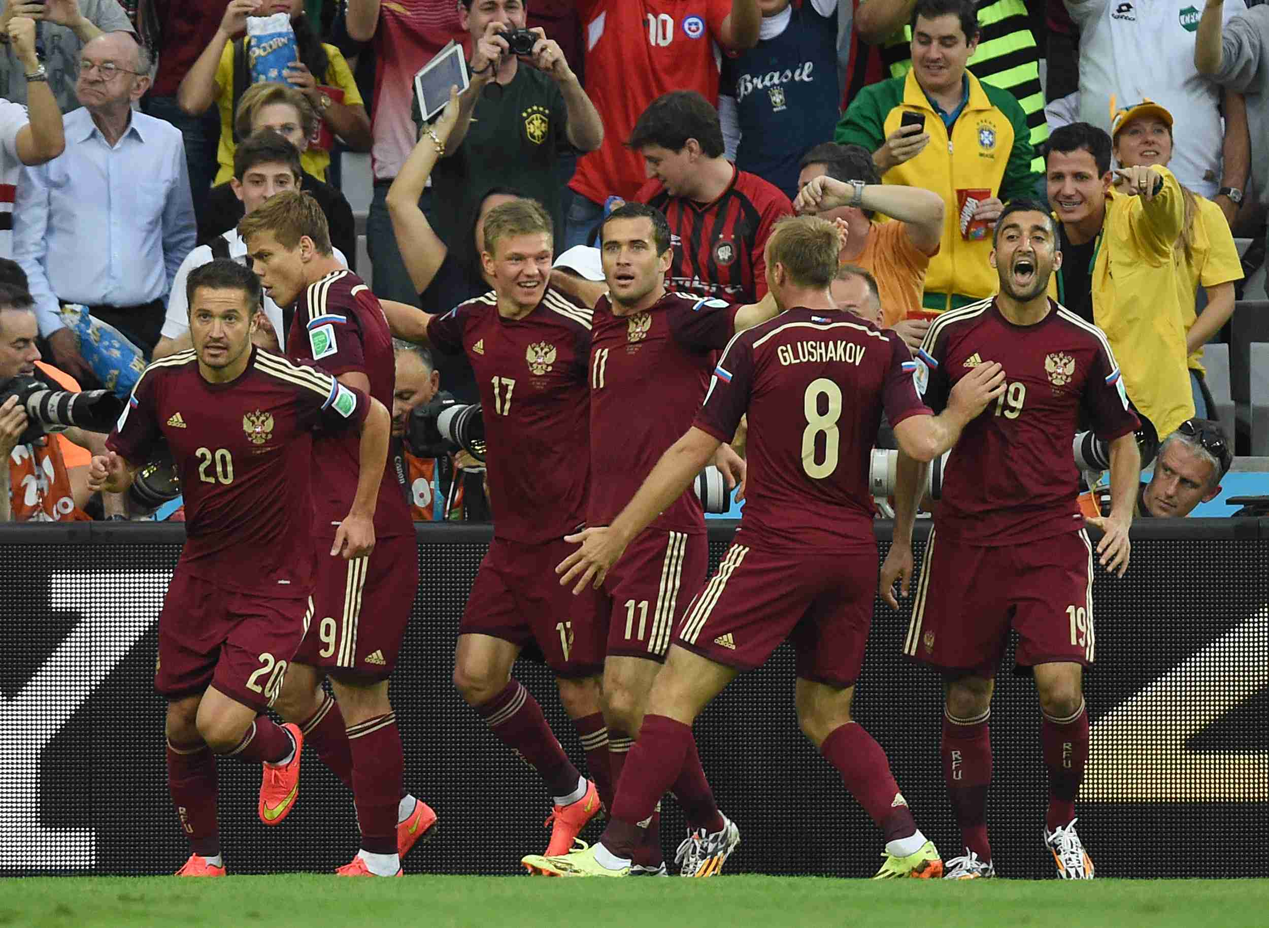 россии на сборной чемпионате результат по мира футболу