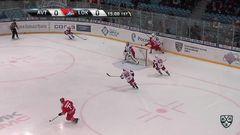 Удаление. Любушкин Илья (Локомотив) удален на 2 минуты за опасную игру высоко поднятой клюшкой