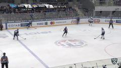 Удаление. Лугин Дмитрий (Адмирал) удален на 2 минуты за атаку игрока, не владеющего шайбой