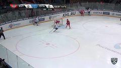 Гол. 0:1. Рылов Яков (Динамо Мск) открывает счет матча в большинстве