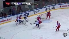Удаление. Артём Блажиевский (ЦСКА) получил 2 минуты за выброс шайбы