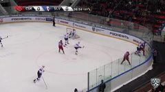 Удаление. Артём Сергеев (ЦСКА) получил 2 минуты за атаку игрока, не владеющего шайбой