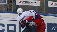 Удаления. Илья Любушкин (Локомотив) и Роб Клинкхаммер (Динамо) получили штрафные минуты