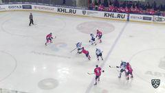 Гол. 0:1. Максим Худяков (Барыс) удачно замкнул передачу партнёра