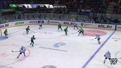 Удаление. Алексей Скабелка (Сибирь) удалён на 2 минуты за атаку игрока, не владеющего шайбой