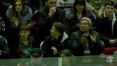 Гол. 1:1. Попов Андрей (Ак Барс) в касание переправил