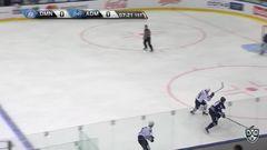 Удаление. Дмитрий Саюстов (Адмирал) удалён на 2 минуты за атаку игрока, не владеющего шайбой