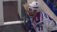 Удаление. Ковальчук Илья (СКА) за атаку игрока не владеющего шайбой.